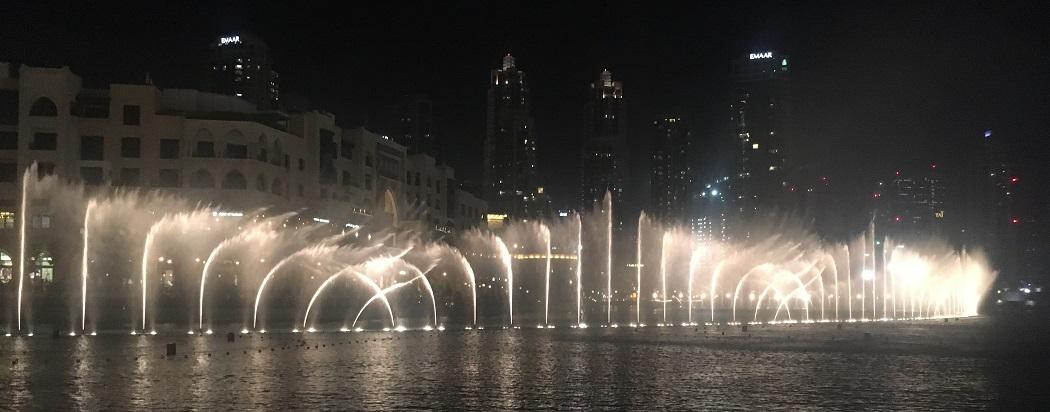 Le ballet des fontaines à Dubaï.
