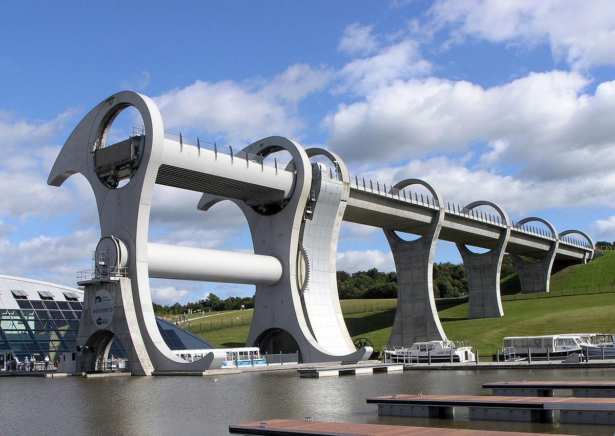 La roue de Falkirk, l'ascenseur pour bateaux!
