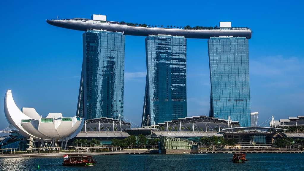 Le Marina bay Sands à Singapour.