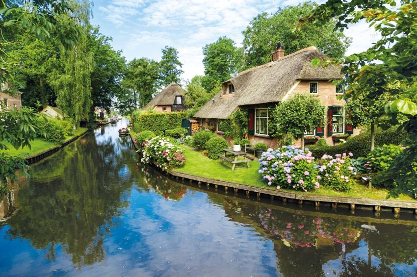 Le village Giethoorn en Hollande.
