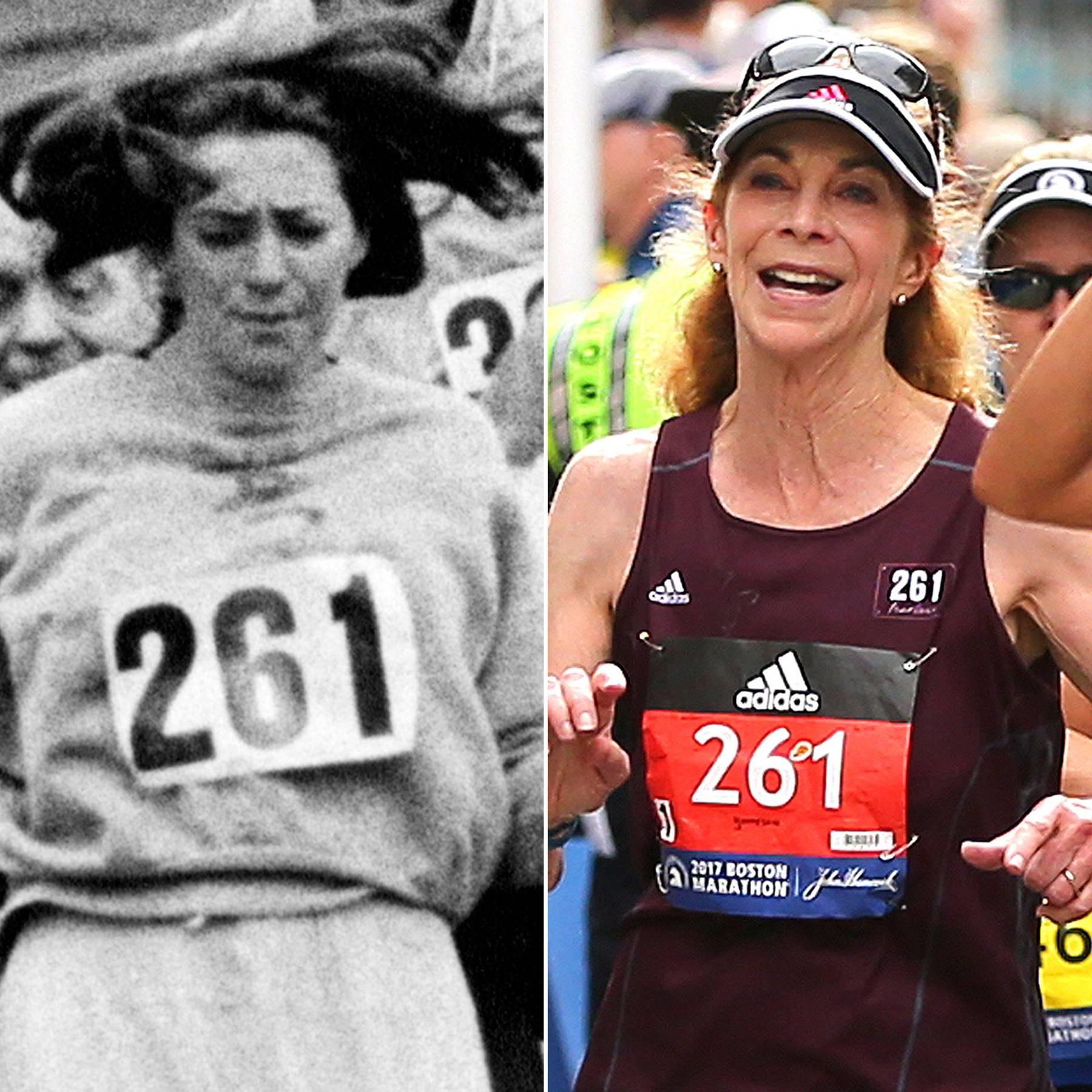 Kathrine Switzer, entre hier et aujourd'hui.