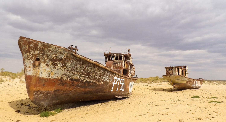 La mer d'Aral, asséchée, revit enfin.