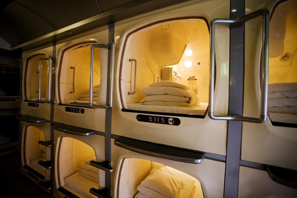 L'hôtel capsule au Japon.