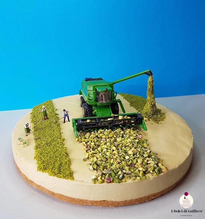 Des pâtisseries insolites en univers miniatures