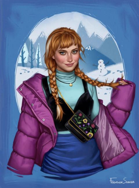 Fernanda Suarez, une illustratrice qui modernise les princesses Disney.