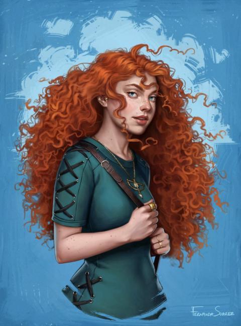 Fernanda Suarez, une illustratrice qui modernise les princesse Disney.