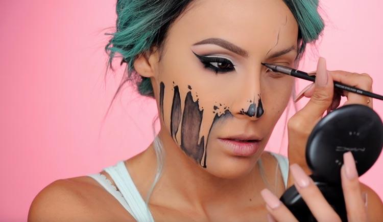 Maquillage pour Halloween avec des idées artistiques.