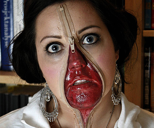 Maquillage pour Halloween.