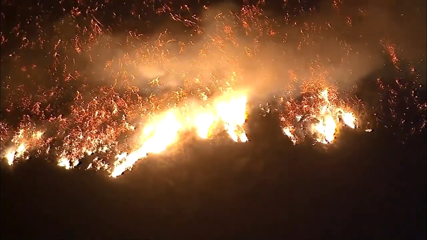 L'état Californien en état d'urgence à cause des feux.