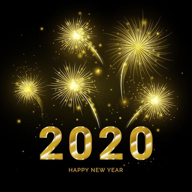 Les feux d'artifices de la nouvelle année 2020