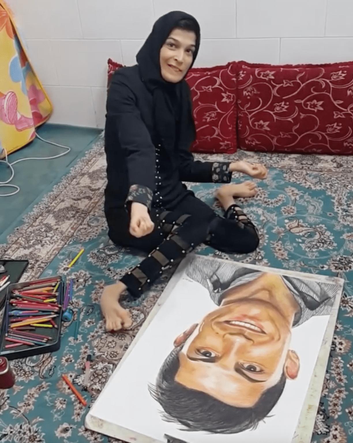 Handicapée talentueuse et pleine de vie