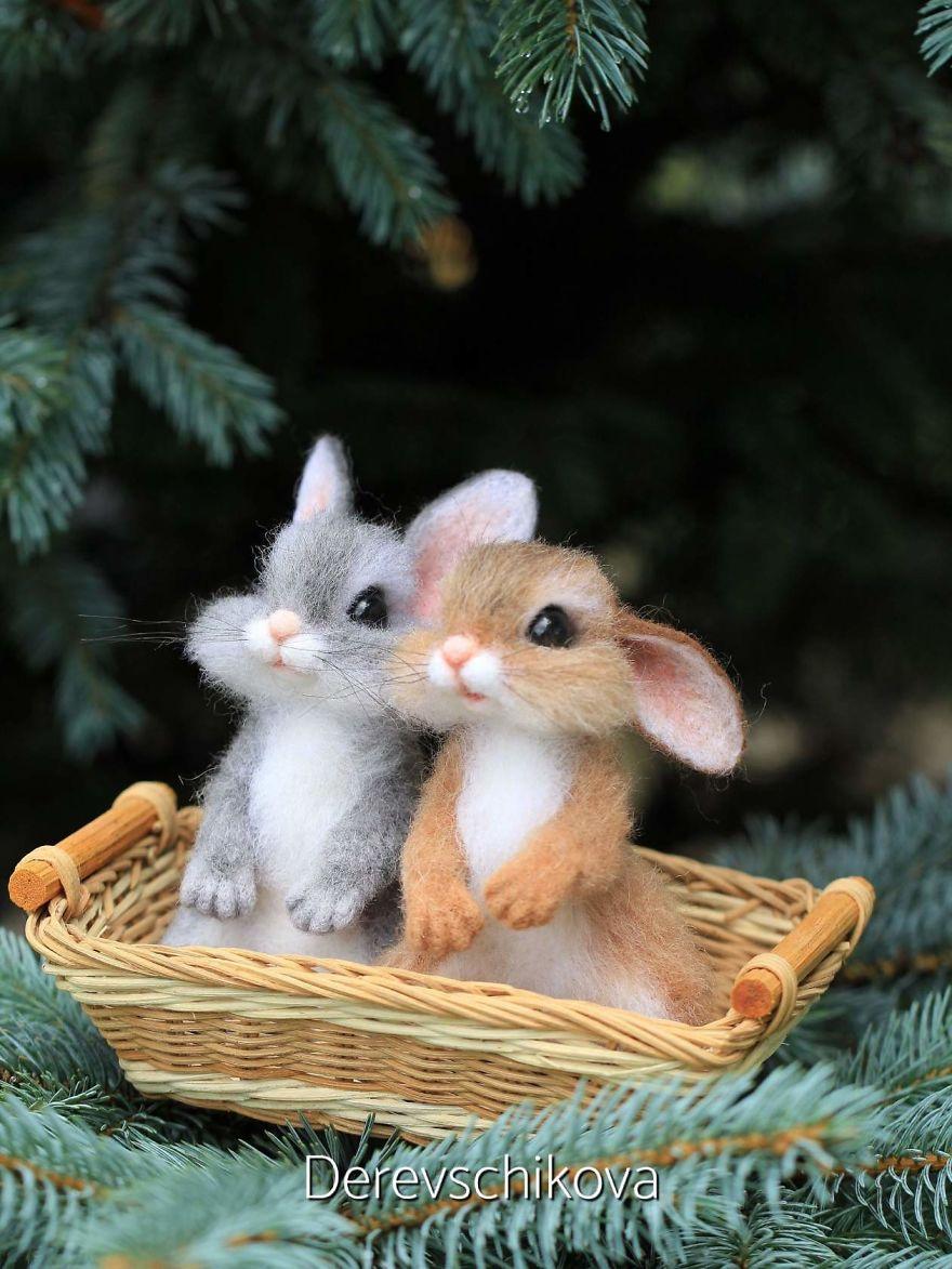 Les animaux en laine feutrée, des merveilles!