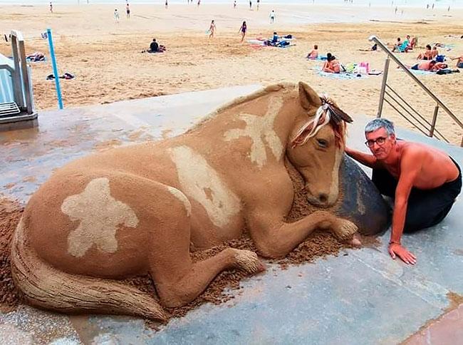 Les sculptures de sable de l'artiste Andoni Bastarrika