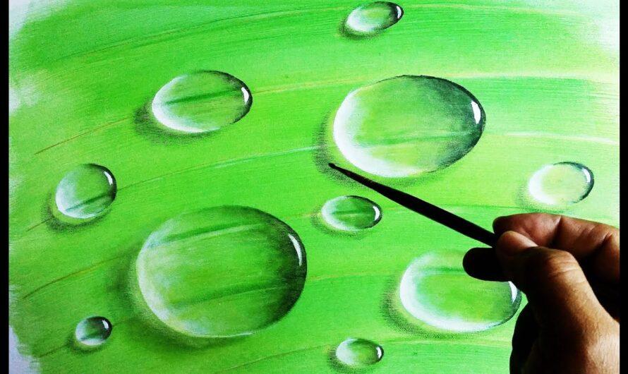 Des gouttes d'eau faciles à peindre pour se détendre