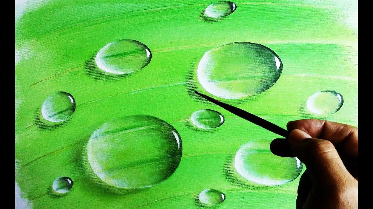 Des gouttes d'eau faciles à peindre